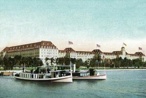 Palm Beach, Florida - Royal Poinciana Hotel View from Water by Lantern Press