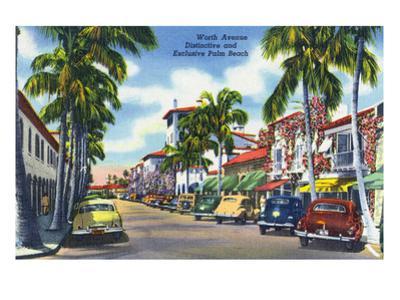 Palm Beach, Florida - View Down Worth Avenue