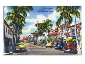 Palm Beach, Florida - View Down Worth Avenue by Lantern Press
