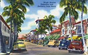 Palm Beach, Florida - View Down Worth Avenue by Lantern Press