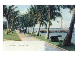 Palm Beach, Florida - View of the Lake Front by Lantern Press