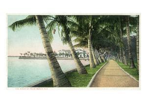 Palm Beach, Florida - View of the Walk Along Lake Worth by Lantern Press