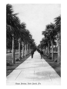Palm Beach, Florida - Walking Down Ocean Avenue by Lantern Press