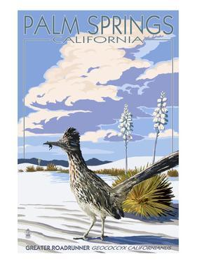 Palm Springs, California - Roadrunner Scene by Lantern Press