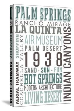 Palm Springs, California - Typography by Lantern Press