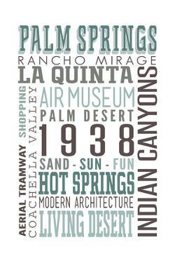 Palm Springs, California - Typography by Lantern Press