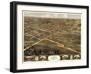 Palmyra, Missouri - Panoramic Map by Lantern Press