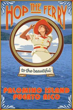 Palomino Island, Puerto Rico - Hop the Ferry by Lantern Press