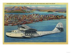 """Pan American Airways """"China Clipper"""" from Orient - San Francisco, CA by Lantern Press"""