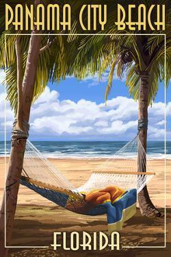 Panama City Beach, Florida - Hammock and Palms by Lantern Press