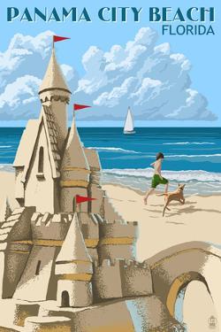 Panama City Beach, Florida - Sand Castle by Lantern Press
