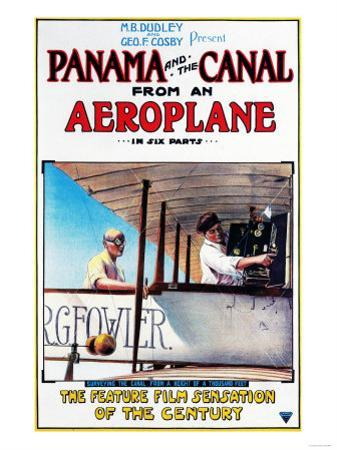 Panama - Panama and the Canal Aeroplane Movie Promo Poster by Lantern Press