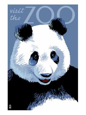 Panda Face - Visit the Zoo by Lantern Press