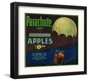 Parachute Apple Crate Label - Los Angeles, CA by Lantern Press