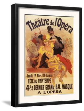 Paris, France - 4th Masked Ball at Theatre de l'Opera Promotional Poster by Lantern Press