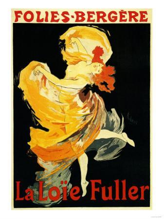 Paris, France - Loie Fuller at the Folies-Bergere Theatre Promo Poster by Lantern Press