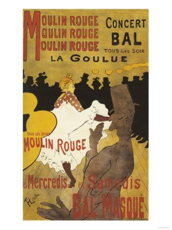 Paris, France - Moulin Rouge La Goulue Valentin le Desosse Poster by Lantern Press