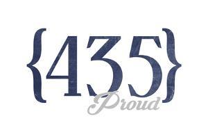 Park City, Utah - 435 Area Code (Blue) by Lantern Press