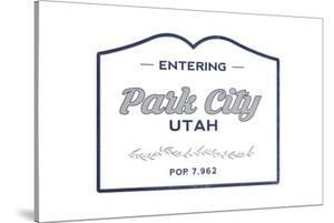 Park City, Utah - Now Entering (Blue) by Lantern Press