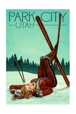 Park City, Utah - Ski Pinup by Lantern Press