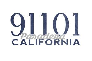 Pasadena, California - 91101 Zip Code (Blue) by Lantern Press