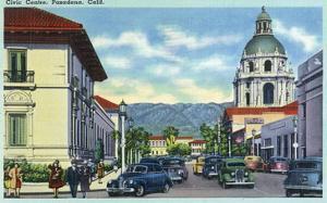 Pasadena, California - Civic Centre Scene by Lantern Press