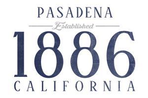 Pasadena, California - Established Date (Blue) by Lantern Press
