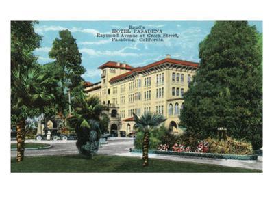 Pasadena, California - Exterior View of Hotel Pasadena