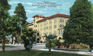 Pasadena, California - Exterior View of Hotel Pasadena by Lantern Press