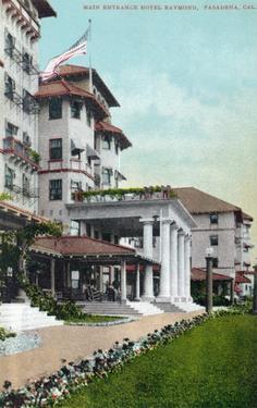 Pasadena, California - Hotel Raymond Main Entrance View by Lantern Press