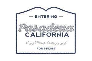 Pasadena, California - Now Entering (Blue) by Lantern Press