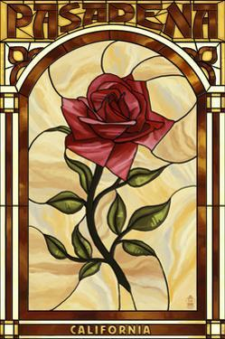 Pasadena, California - Rose Stained Glass by Lantern Press