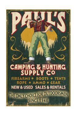 Paul Bunyan - Vintage Sign by Lantern Press