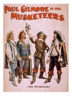 Paul Gilmore in The Musketeers Theatrical Poster by Lantern Press