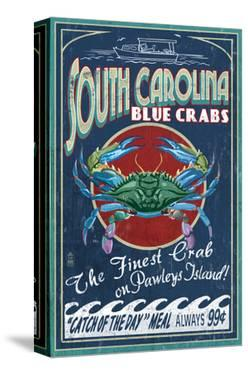 Pawleys Island, South Carolina - Blue Crabs by Lantern Press