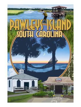 Pawleys Island, South Carolina - Montage by Lantern Press