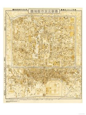 Peking, China - Panoramic Map by Lantern Press