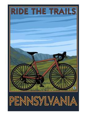 Pennsylvania - Mountain Bike Scene by Lantern Press