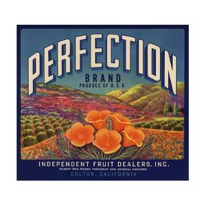 Perfection Brand - Colton, California - Citrus Crate Label by Lantern Press