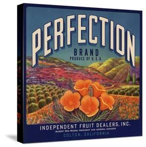 Perfection Brand - Colton, California - Citrus Crate Label by Lantern Press