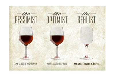 Pessimist Optimist Realist by Lantern Press