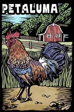 Petaluma, California - Rooster - Scratchboard by Lantern Press