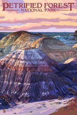 Petrified Forest National Park, Arizona - Chinle Formation by Lantern Press