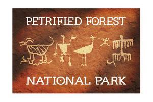 Petrified Forest National Park, Arizona - Petroglyphs by Lantern Press
