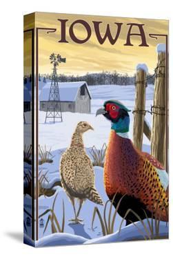 Pheasants - Iowa by Lantern Press