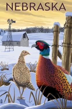 Pheasants - Nebraska by Lantern Press
