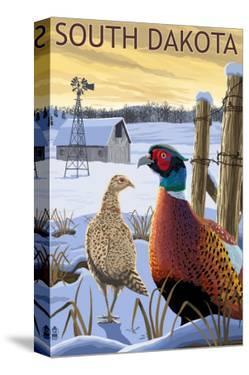 Pheasants - South Dakota by Lantern Press