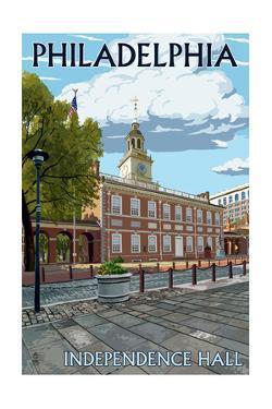 Philadelphia, PA - Independence Hall by Lantern Press
