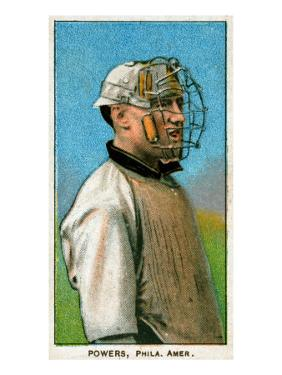 Philadelphia, PA, Philadelphia Athletics, Mike Powers, Baseball Card by Lantern Press