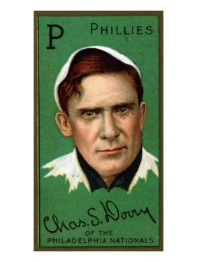 Philadelphia, PA, Philadelphia Phillies, Charles S. Dooin, Baseball Card by Lantern Press